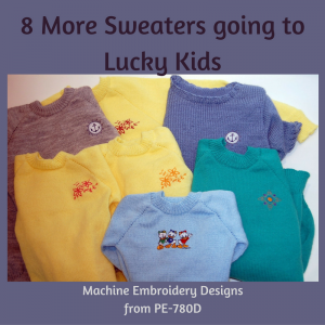 machine embroidered sweaters