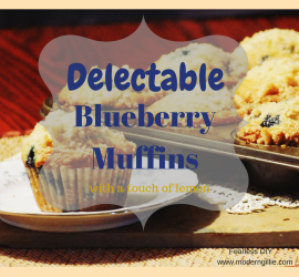 Easy Blueberry Muffins. www.moderngillie.com