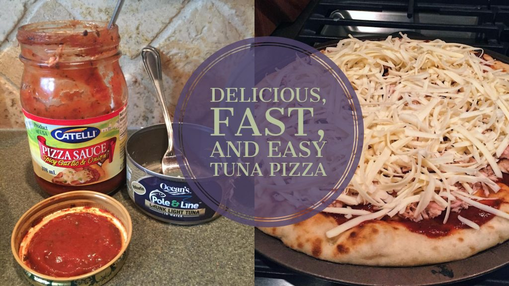 Delicious, Fast, and Easy Tuna Pizza, www.moderngillie.com