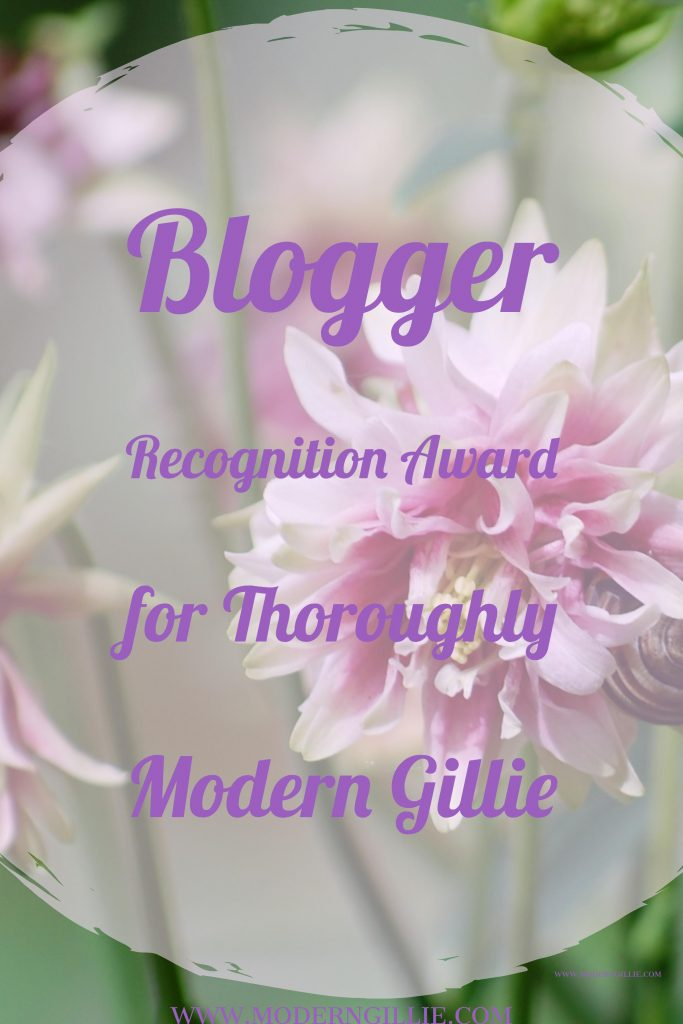 blogger recognition award, www.moderngillie.com