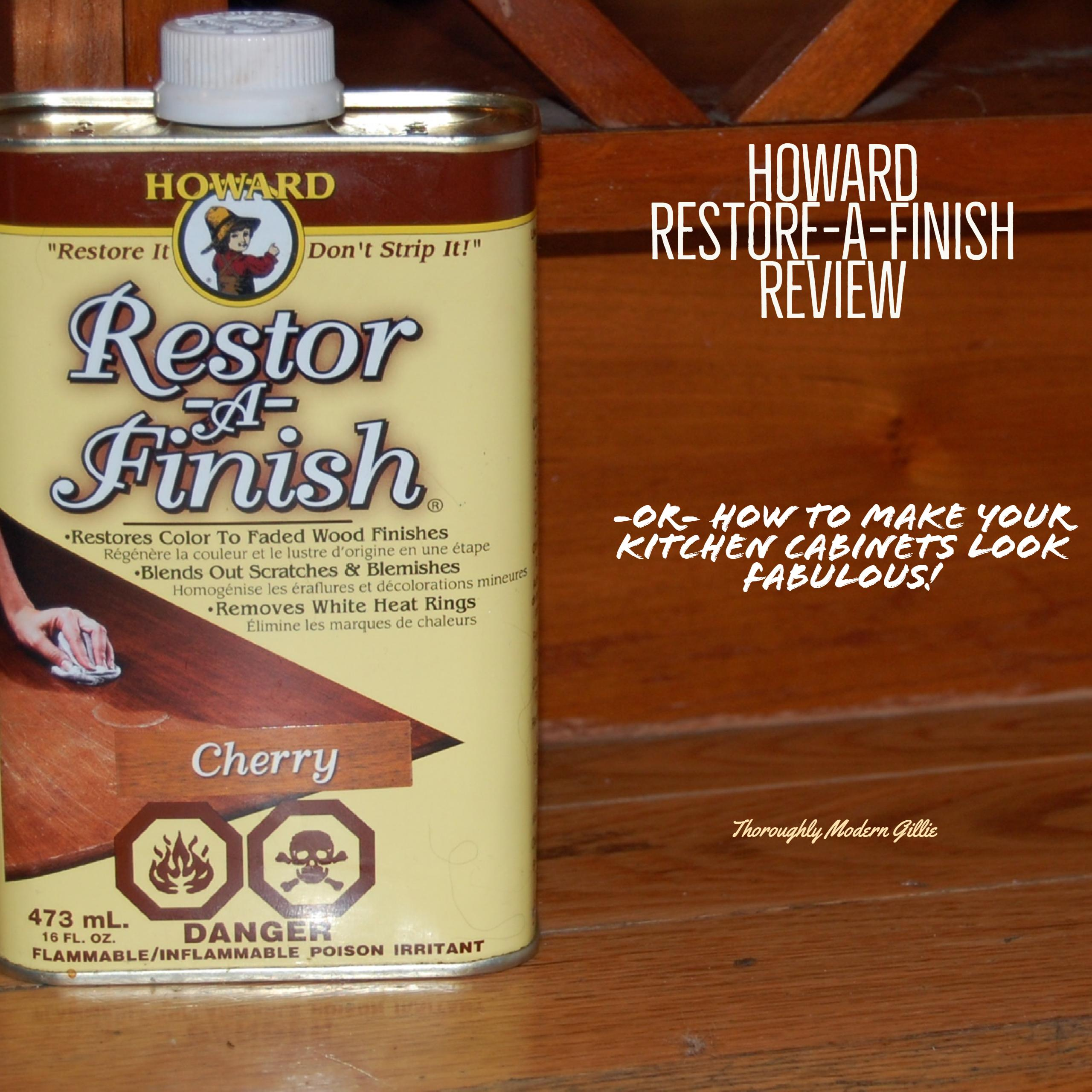 Howard restore a finish review, www.moderngillie.com