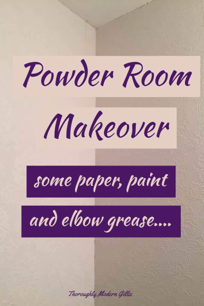 Inexpensive Powder Room Makeover, www.moderngillie.com, #homedecor #homestyle #powderroom #powderroomdesign #wallpaper #wallpaperdecor #texturedwallpaper #makeover #makeovermagic