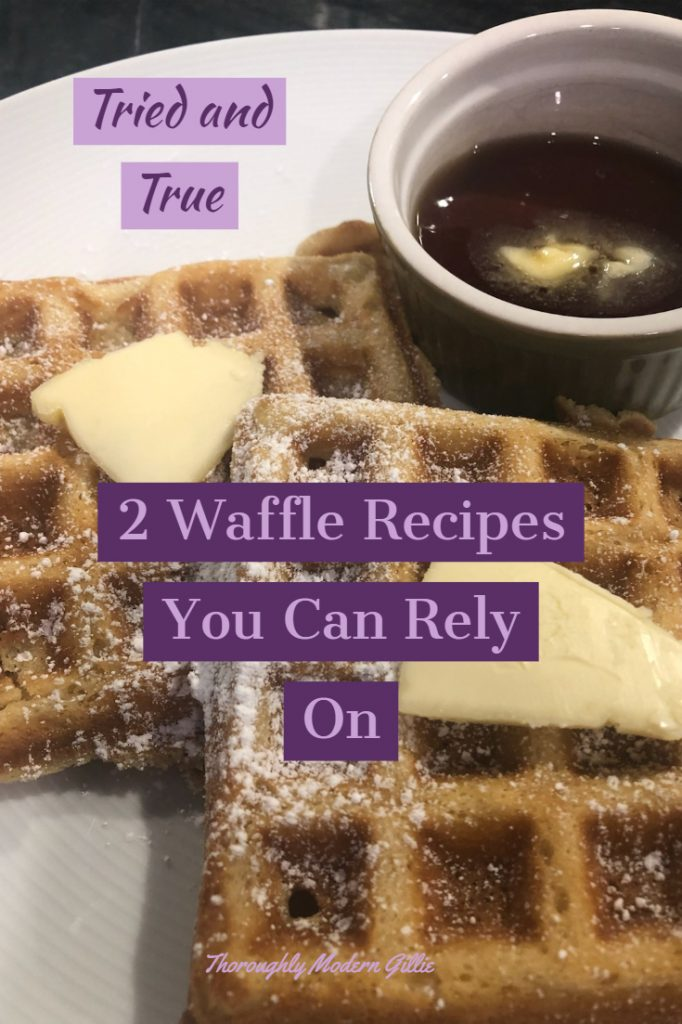 2 delicious, reliable waffle recipes, www.modengillie.com #waffle #wafflerecipe #breakfastideas  #homemade #cookingbrakfast