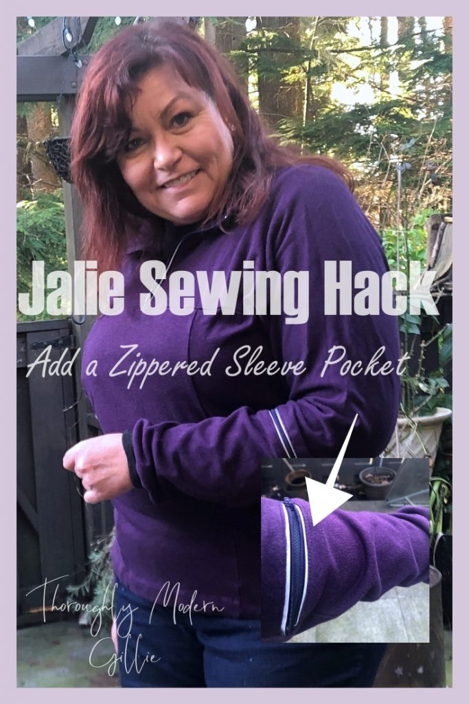 Jakie 2212 Sewing Hack. Zippered pocket Sleeve Pin
