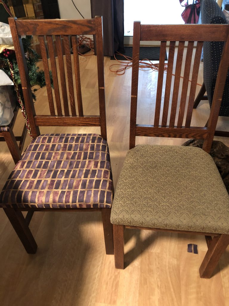 recoverec chairs before and after